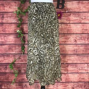 Style & Co Skirt Plus size 18 Brown Batik Paisley
